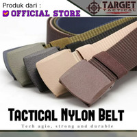 Gesper Plastik Tactical Sabuk Ikat Pinggang Belt Nilon Import