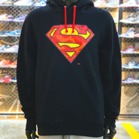 BAPE X DC SUPERMAN PULLOVER HOODIE - BLACK