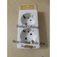 Stop Kontak Arde 2 Lubang-Stop Kontak Ard Plat Kuningan-SK Arde