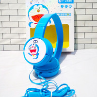 Headset Headphone Bando Karakter Lucu Doraemon KT-3156 Headseat Gaming
