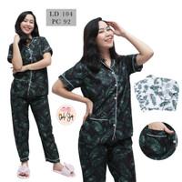 Baju Tidur Piyama Wanita/Cewek Pajamas Dewasa Motif Coco Daun