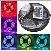 Lampu led strip rgb warna warni ip44 ip 44 3528 komplit set remote