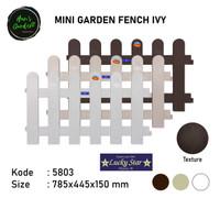 Dekorasi taman mini garden fence pagar taman mini 5803 Lucky star