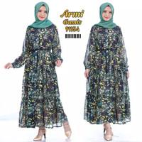 gamis zara army motif kekinian maxy baju muslimah fashion