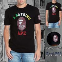 kaos baju cowok seri 881 bape(ape)