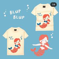 Kaos Anak Perempuan MasiMada Kids Cream Mermaid - 9 - 12 Bulan