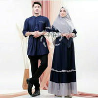 Baju muslim couple Alviane Gratis hijab Couple muslim syari terbaru