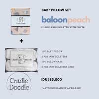 Baby Pillow Set SOFT (Newborn) with Organic Cover Ballon Peach - INSERT N COVER