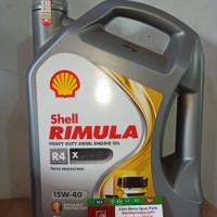 Oli Shell Helix Rimula R4 X SAE 15W-40 Galon 5 Liter Original