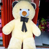 BONEKA TEDDY BEAR JUMBO Tinggi 100cm / Boneka Beruang Besar Murah - Cream