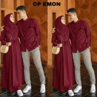 sepasang couple gamis+baju koko/cp emon