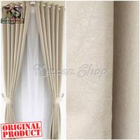 Gorden polos warna cream gorden jendela gorden pintu bahan IMPORT