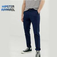 Hipster celana panjang chino besar big size warna NAVY