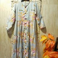Baju Gamis Wanita Muslim - Abu-abu, all size