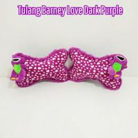 Bantal Mobil Tulang Barney Love Dark Purple
