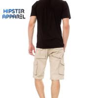 Hipster celana gunung cargo pendek warna cream/ivory