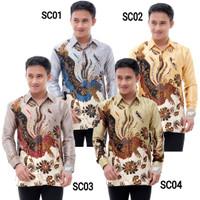 Baju Batik Pria Semi Sutra Lengan Panjang Furing