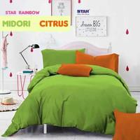 Set Bedcover Hotel Katun Lokal Premium Ukuran 140x200 Tinggi 30