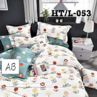 Sprei Set Bed Cover Katun Jepang Import Tinggi 30cm Ukuran 140x200