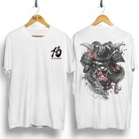 T-Shirt Samurai Dragon / Baju Kaos Distro Pria & Wanita / Cotton 30s