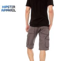 Hipster celana gunung cargo pendek warna abu/grey