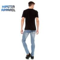HIPSTER celana jeans panjang pria warna bioblizt sprey