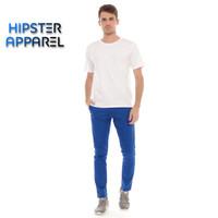 HIPSTER celana chino panjang pria warna Biru Persib