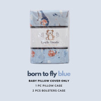 Baby Pillow Set SOFT (Newborn) with Organic Cover Born To Fly Blue