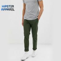 Hipster celana panjang chino besar big size 36-42 warna hijau army