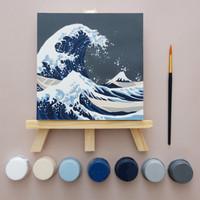 Hokusai Kanagawa / paint by number / mewarnai / art set/ painting kit