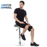 Hipster celana gunung cargo pendek warna hitam/black