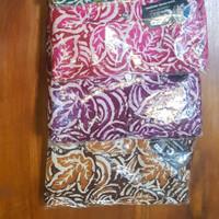Setelan Celana Panjang Wanita Batik Cap Premium Rayon Samitex - Ungu