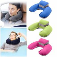 bantal leher - travel neck pillow U - shape inflatable air blow up