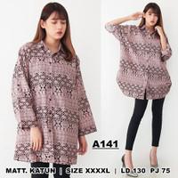 Kemeja Wanita XXXXL LD 130 / Baju Jumbo Bigsize / Astec Hem