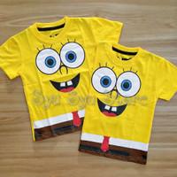 Baju Atasan Kaos Anak Laki Laki Cowok Spongebob Sponge Bob Body Kuning