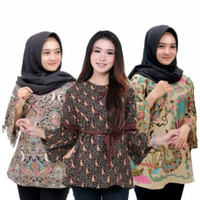 Blouse Wanita Baju Batik BIG SIZE JUMBO XXL XXXL 4L 5L