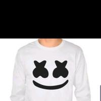 Tshirt / Kaos / Baju Marshmellow Dj Logo Lengan Panjang 1 ulasan - Putih, S