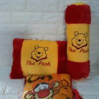 Paket Bantal Guling Selimut Tas Winnie The Pooh Murah