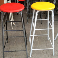 Kursi Baso Bangku Bar Plastik Bulat Tinggi 75cm