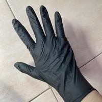 Sarung tangan latex / karet warna HITAM merek shamrock isi 100pcs - XS, 50pcs