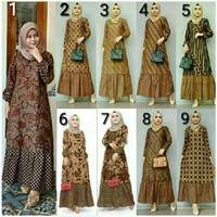 baju gamis batik zara sogan atasan batik wanita baju batik muslimah