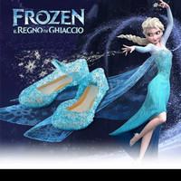Sepatu Frozen anak jelly sepatu kaca princess