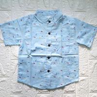 Baju anak kemeja anak laki laki bahan katun jepang size L XL