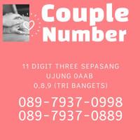 Nomor Nomer Cantik Tri 11 digit, ujung couple 0889 0998 harga sepasang