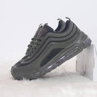 sepatu nike air max 97 army hitam abu cokelat Ukuran 36 - 45