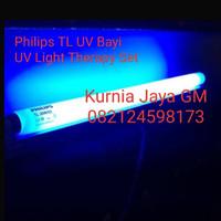Philips TL UV Blue Light 20 watt / Lampu UV Bayi Kuning KOMPLIT SET