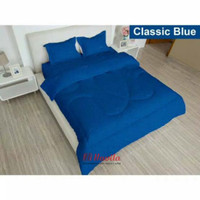Bedcover Lady Rose set King 180x200 motif CLASSIC BLUE