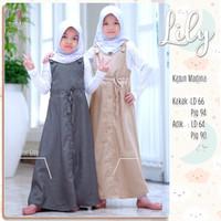 Baju gamis anak perempuan 10 tahun Lily KIDS ORI BY Shofiya