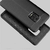 Leather Soft Back Cover Case Bumper Xiaomi Redmi Note 9 Pro Silicon