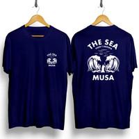 Kaos Navy Gambar MUSA / Baju Distro Pria Keren Grosir Murah